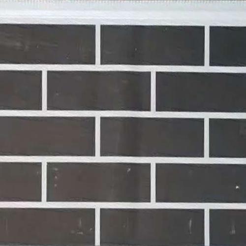 双色黑砖金属雕花板